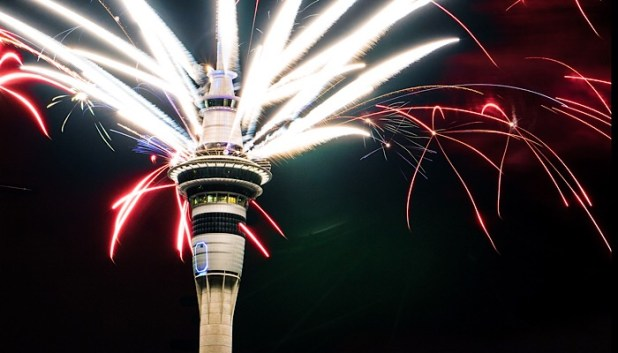 celebrating New Year's Eve in Auckland