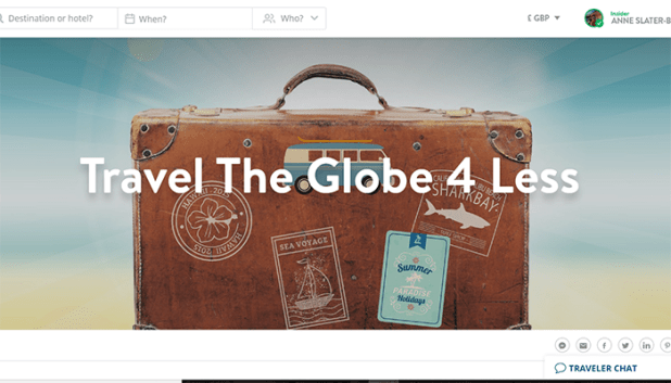 Discover special places to stay on Travel The Globe 4 Less TRVL site