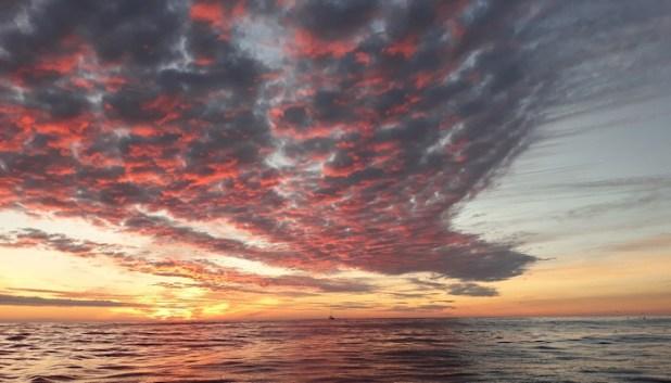 Incredible sunset skies