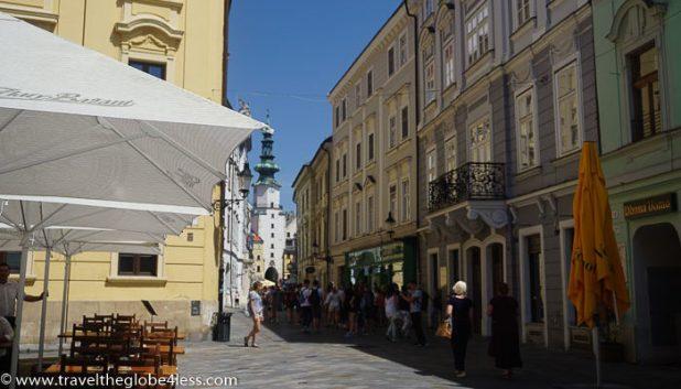 Bratislava street cafes
