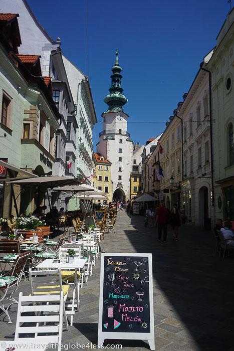 Bratislava street and St Michael's gate