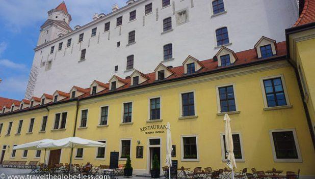 Bratislava Castle restaurant