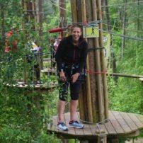 on a treetop platform