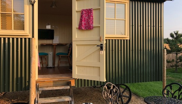 Glamping caravan in March