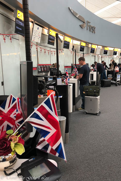 British Airways First Class check in Heathrow T5