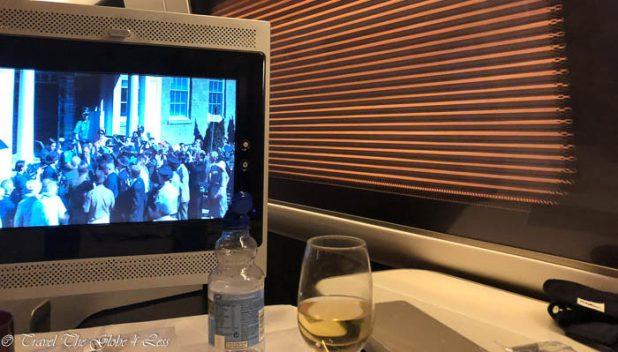 British Airways First Class Window blinds