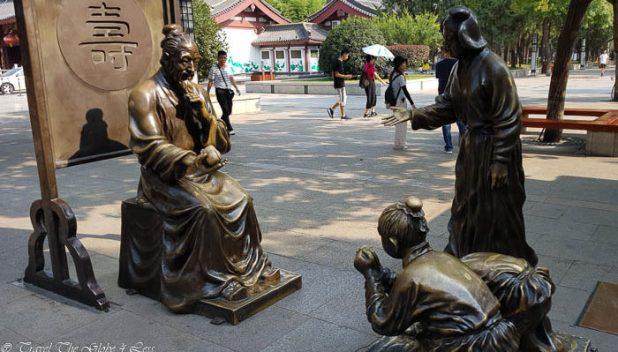 Big Goose Pagoda sculptures