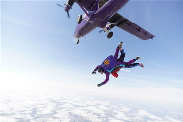 Skydiving in the uk to raise money