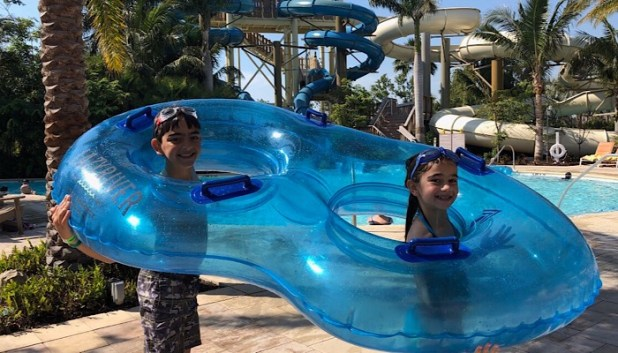 Waterslides at the Hyatt Coconut Point