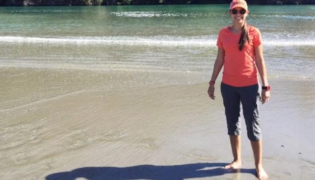 Margie on the beach