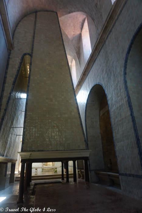 The kitchen chimney at Alcobaca Monastery