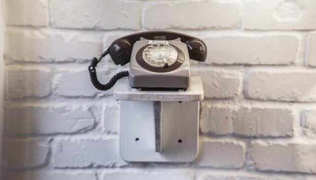 the phone to enter the Washhouse