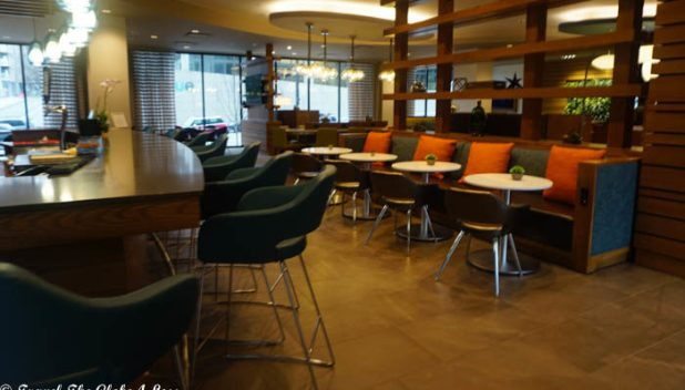 Even Hotel Seattle bar area