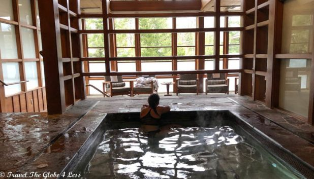 Me in the Salish Lodge spa pool