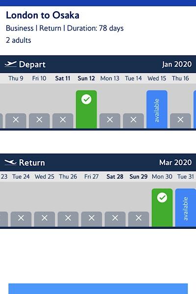 BA apps flight confirmation