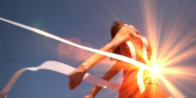 Athletics race winner