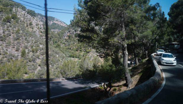 Switchback roads in the Transmuntana