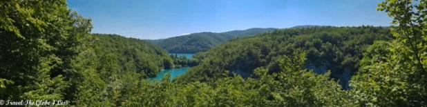 Panorama of Plitvice Lakes