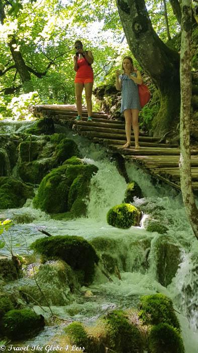 Taking photos of Plitvice Lakes
