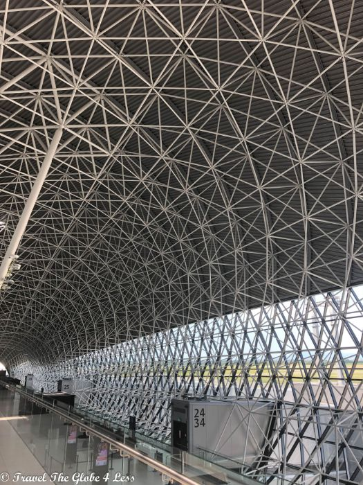 cool architecture of the Zagreb airport terminal