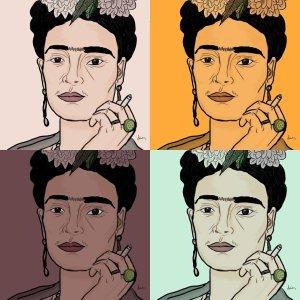 Frida Kahlo, disegno digitale