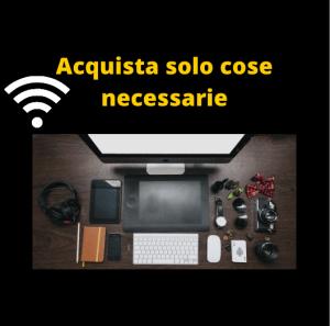 Acquistare solo cose necessarie Nomadi Digitali