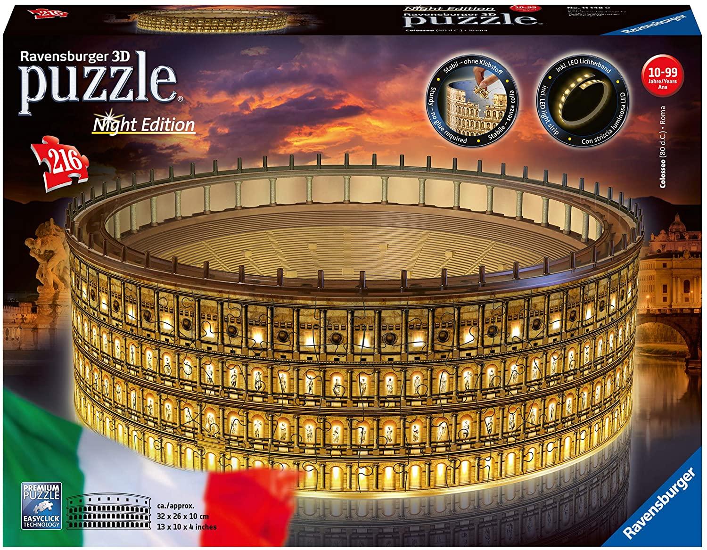 Ravensburger Colosseo Night Edition 3D Puzzle traveltherapists blog di viaggio miglior blog di viaggio blog giappone
