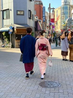 coppia in kimono a Tokyo