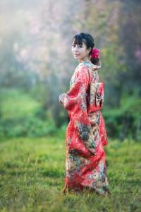 ragazza in abiti tradizionali kimono Sesso in Giappone