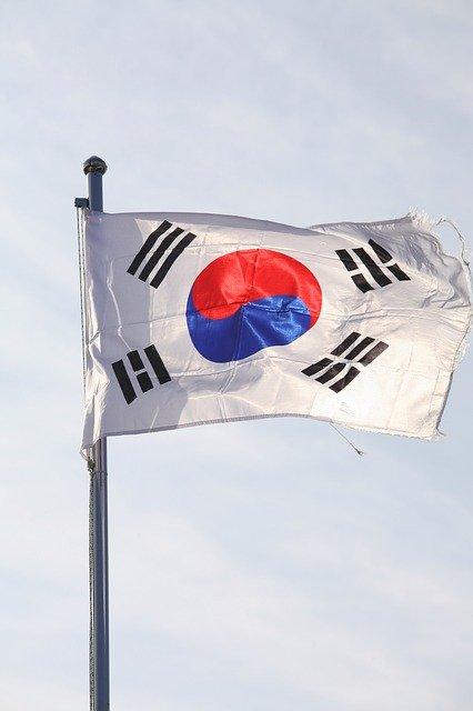 bandiera sudcoreana al vento