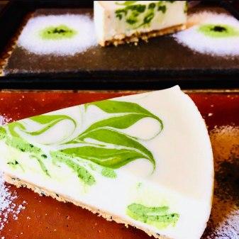 Dolci al Matcha di Kyoto rare cheesecake matcha roll cake kyoto traveltherapist