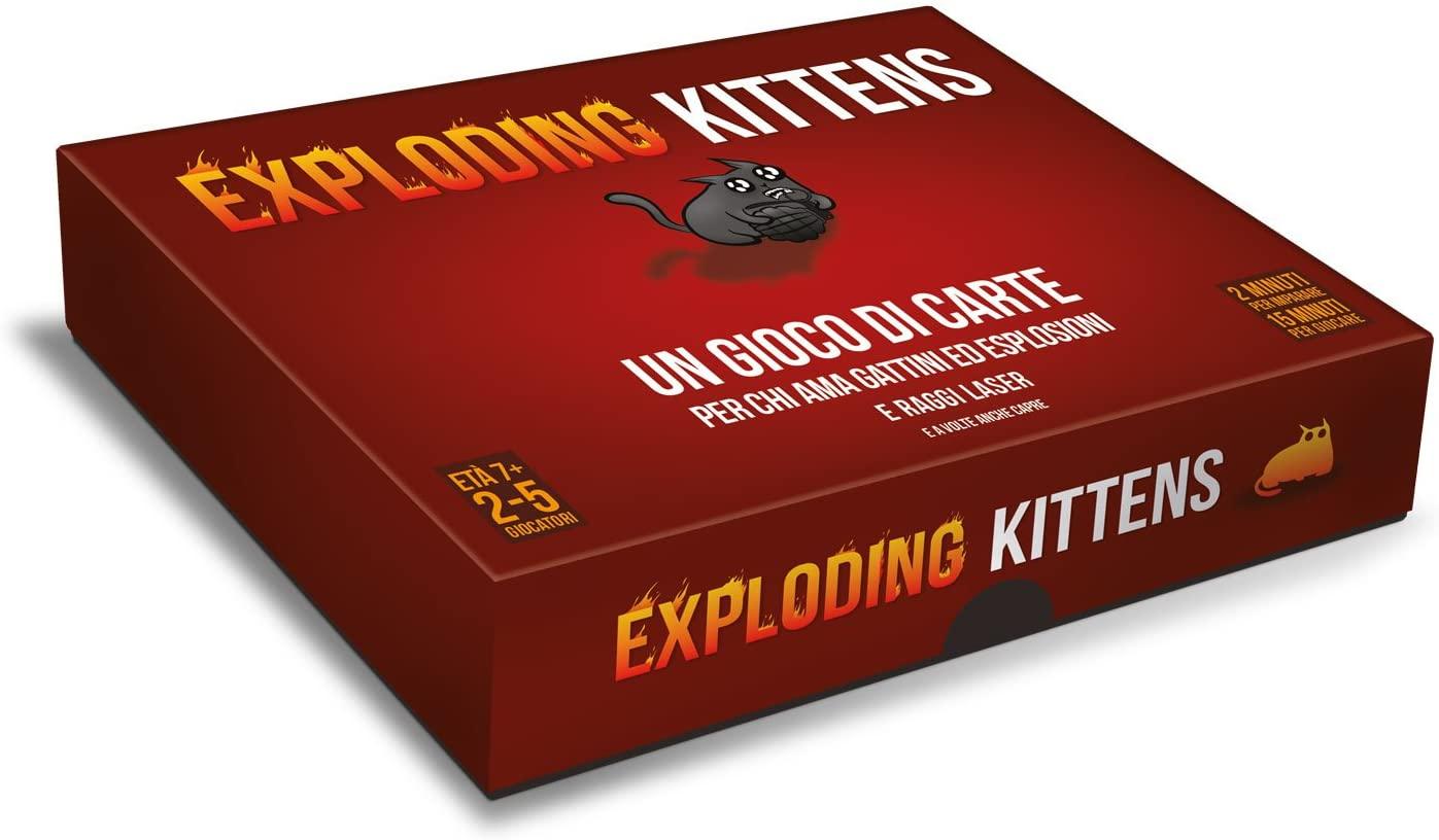 gioco da tavolo con gattino stampato exploited kittens della Asmodee