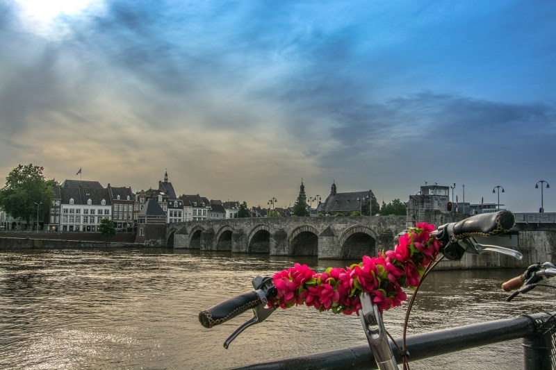 maas mosa fiume e bici decorata traveltherapists maastricht