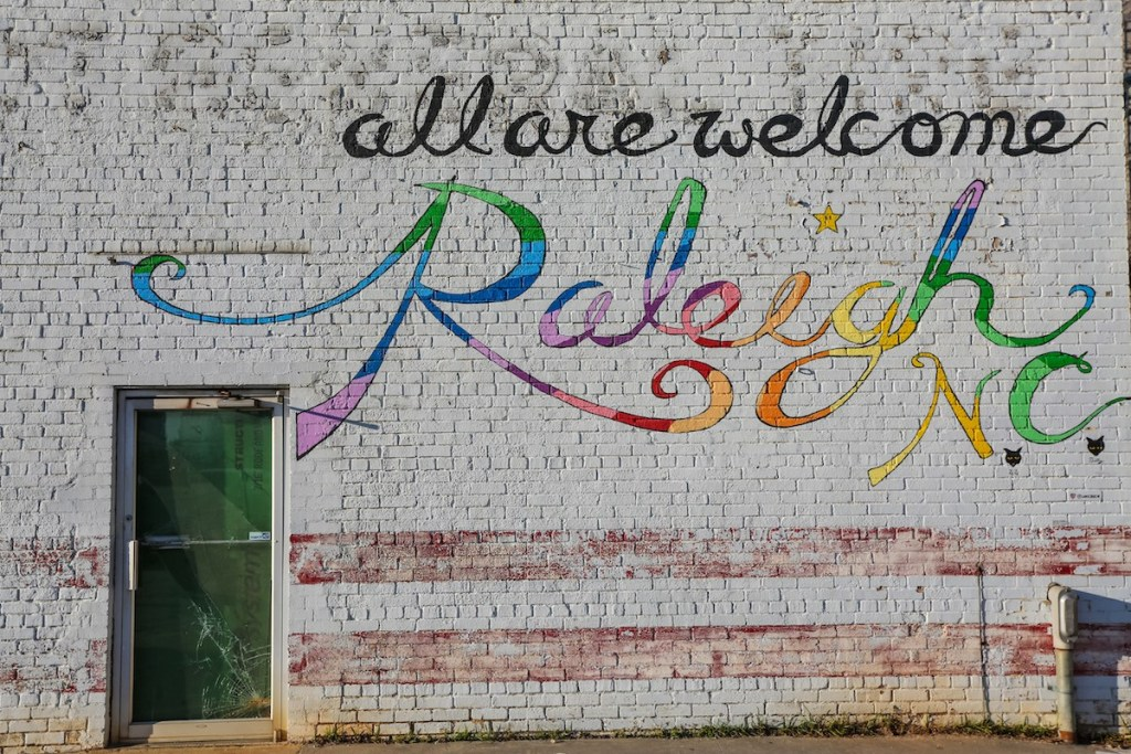 All Are Welcome In Raleigh Mural