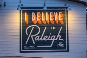I Believe in Raleigh Mural