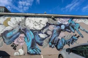 Raleigh Murals Hand Foot Flowers