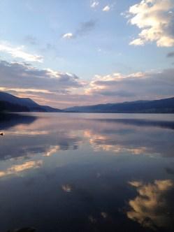 Lake Dospat at sunset