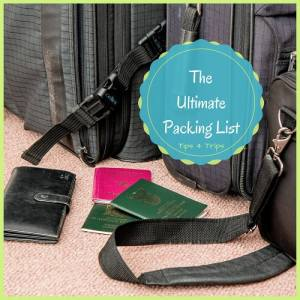 The ultimate travel packing list for your next holiday
