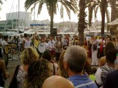 Summer Music Festival at Barceloneta promenade.