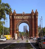 ARC DE TRIOMF, was built as the gateway for the Universal Exhibition (1888) which was held in the Parc de la Ciutadella.