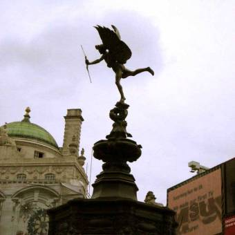 Eros statue - Picadilly Circus, LONDON, England