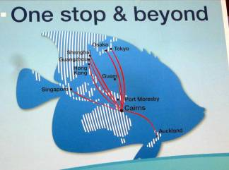 Cairns INTERNATIONAL AIRPORT is located 7 km (4 mi) north of Cairns City between the CBD and the Northern Beaches.