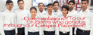 congratulations to our students who got jobs through campus placement