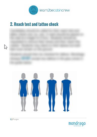 reach test