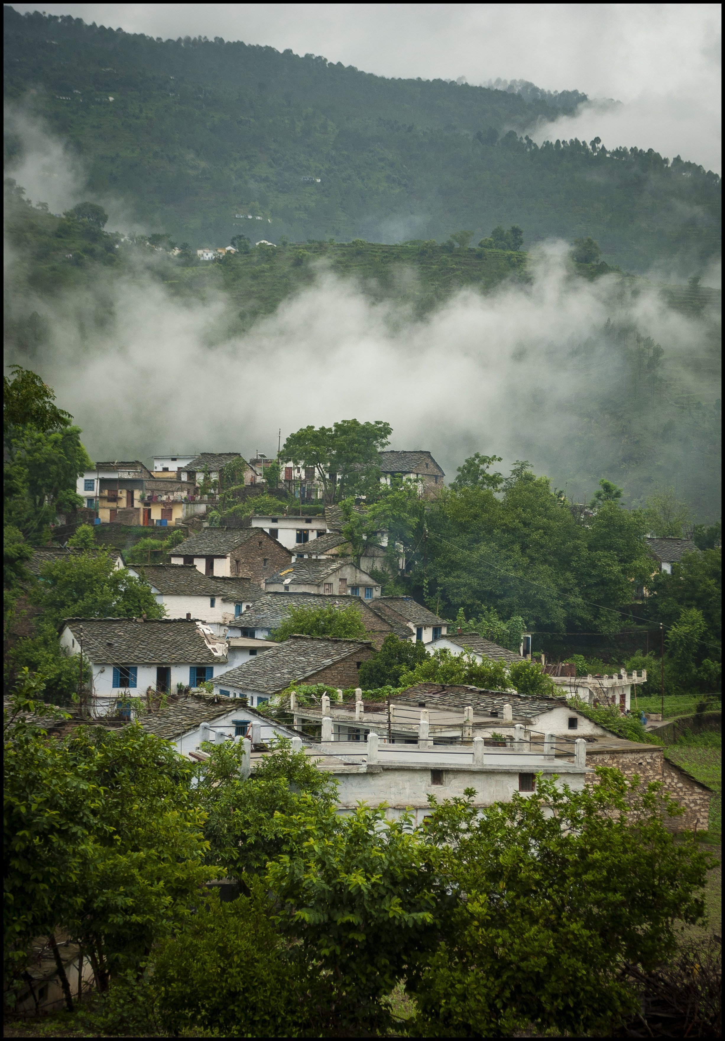 mountain abodes, Kothiyan village, Kumaun Himalaya, Uttarakhand, India