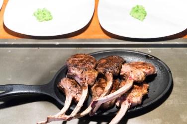 Wood fired roasted Lamb chops