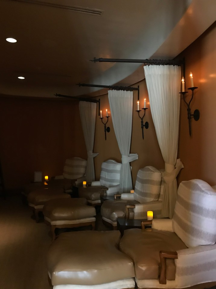 relaxation room at the spa in wigwam