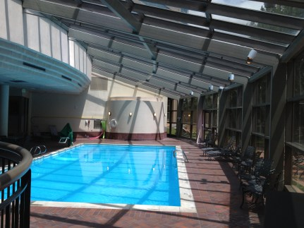 Indoor pool at the Hyatt Regency