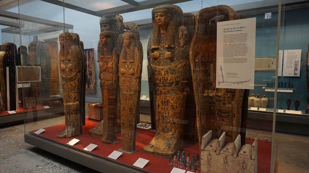 Sarcofagen en Mummy's in British Museum in Londen