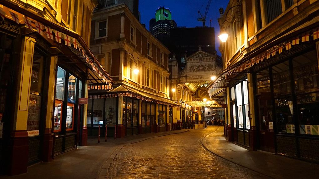 Leadenhall market, wegisweg in Londen